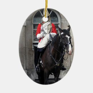 Honor Guard on Horse London Ceramic Ornament