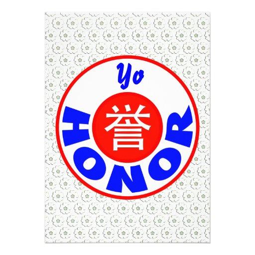 Honor Custom Invitation