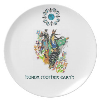 HONOR MOTHER EARTH PARTY PLATE