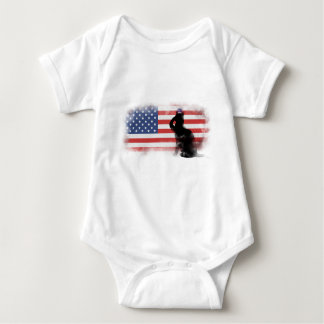 Honor Our Heroes On Memorial Day Baby Bodysuit