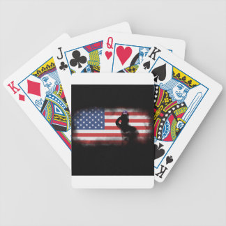 Honor Our Heroes On Memorial Day Bicycle Playing Cards