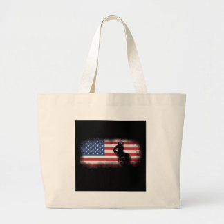 Honor Our Heroes On Memorial Day Large Tote Bag
