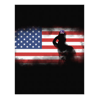 Honor Our Heroes On Memorial Day Letterhead Template