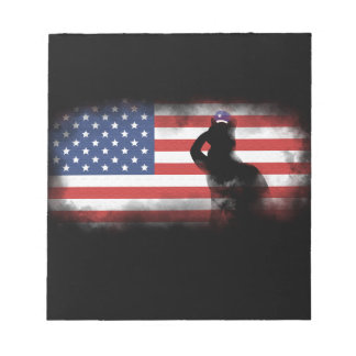 Honor Our Heroes On Memorial Day Notepad