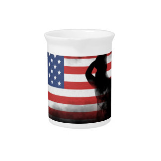Honor Our Heroes On Memorial Day Pitcher