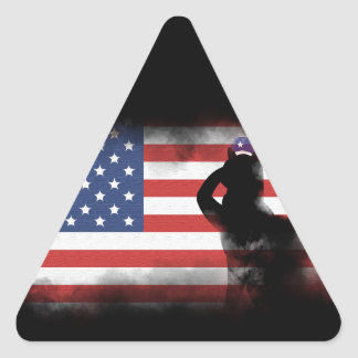 Honor Our Heroes On Memorial Day Triangle Sticker