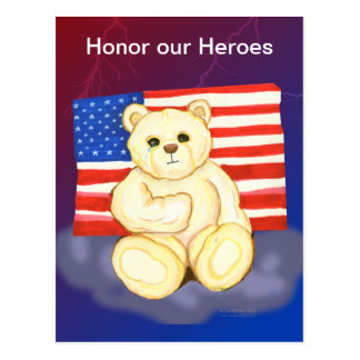 Honor our Heroes Teddy Postcard