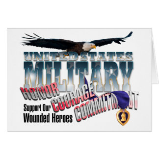 Honor our Military Heroes Greeting Card