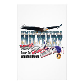 Honor our Military Heroes Stationery Paper