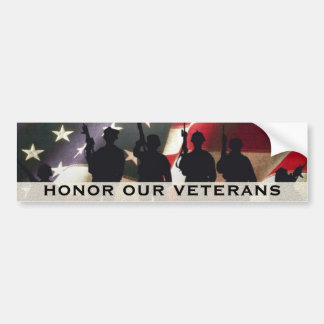 Honor Our Military Veterans Bumper Sticker
