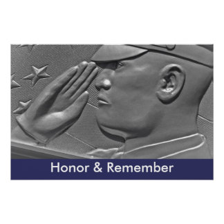 Honor & Remember Military Hero Poster