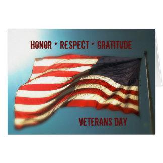 Honor Respect Gratitude - Thank You Veterans Card