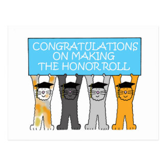 Honor Roll Congratulations Postcard
