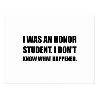 Honor Student What Happened Postcard