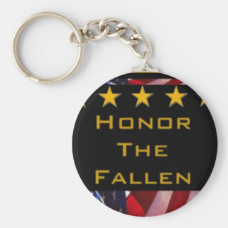 Honor the Fallen Military Tribute Keychain