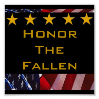 Honor the Fallen Military Tribute Poster