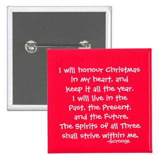 Honor-The Scrooge Series 2 Inch Square Button