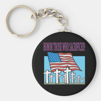 Honor Those Who Sacrificed Basic Round Button Keychain