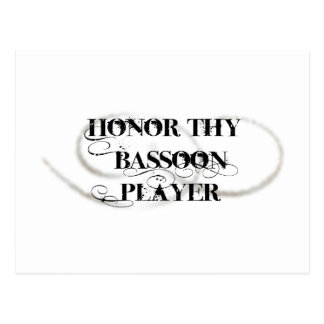 Honor Thy Bassoon Player Postcard