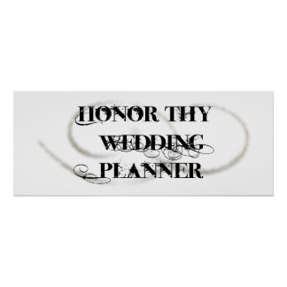 Honor Thy Wedding Planner Posters