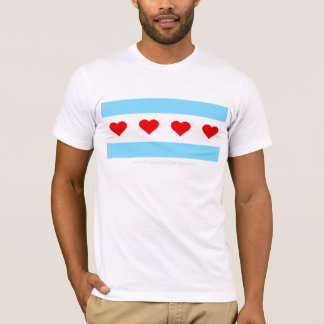 Honorary Chicago Heart Tour Flag T-Shirt
