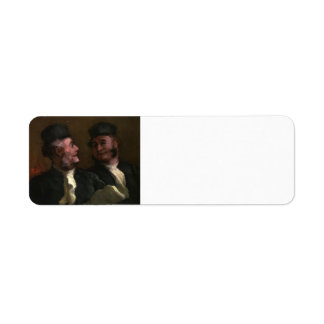 Honore Daumier- The Lawyers Return Address Label