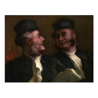 Honore Daumier- The Lawyers Postcard