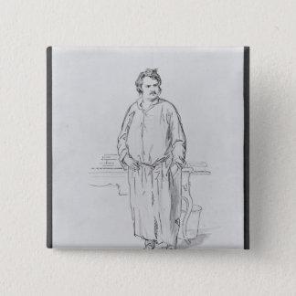 Honore de Balzac 2 Inch Square Button