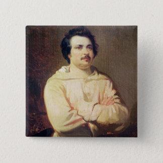 Honore de Balzac  in his Monk's Habit, 1829 2 Inch Square Button