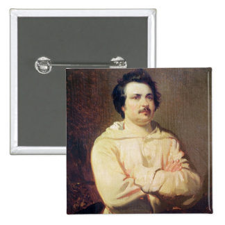 Honore de Balzac  in his Monk's Habit, 1829 2 Inch Square Button
