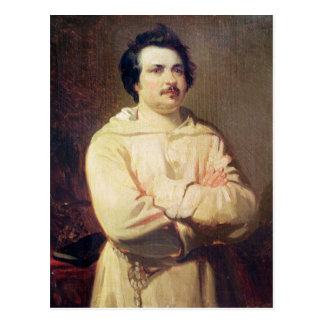 Honore de Balzac  in his Monk's Habit, 1829 Postcard
