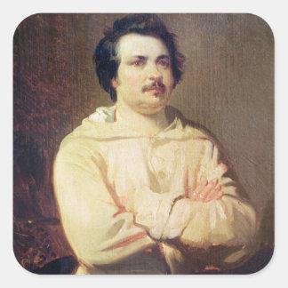 Honore de Balzac  in his Monk's Habit, 1829 Square Sticker