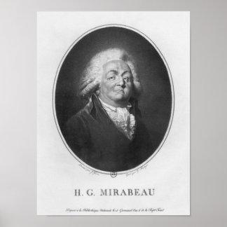 Honore Gabriel Riqueti, Comte de Mirabeau Poster