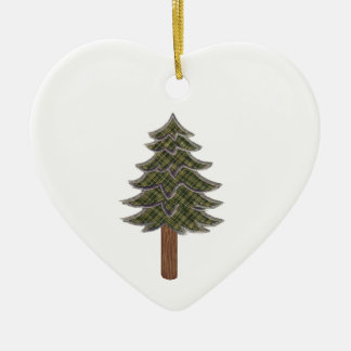 HONORED AND RESPECTED CERAMIC HEART ORNAMENT