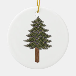 HONORED AND RESPECTED ROUND CERAMIC ORNAMENT