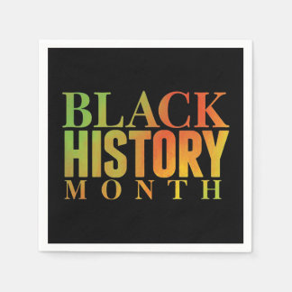 Honoring Decades BHM Party Paper Napkins