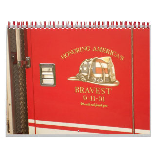 Honoring Fire Fighters Wall Calendar