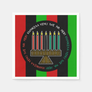 Honoring Heritage Kwanzaa Party Paper Napkins