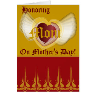 Honoring, Mom-Customize. Greeting Card