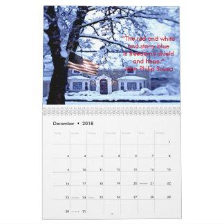 Honoring Our American Flag 2018 Calendar