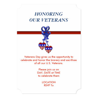 Honoring Our Veterans Veterans Day Party Invite