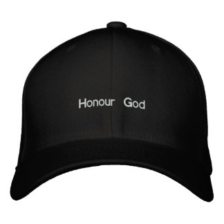 Honour God Embroidered Hat