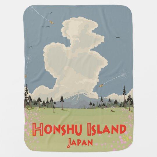 Honshu Island,Japan travel poster Baby Blanket