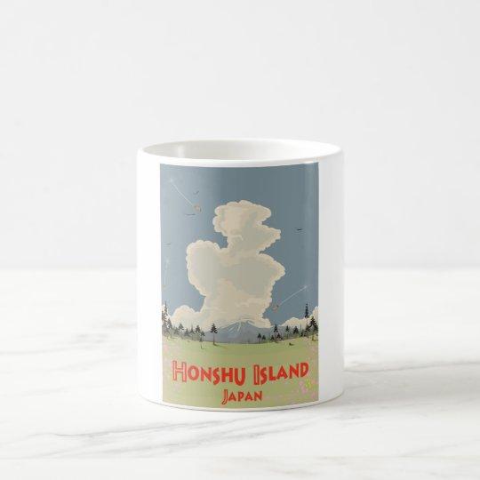 Honshu Island,Japan travel poster Coffee Mug