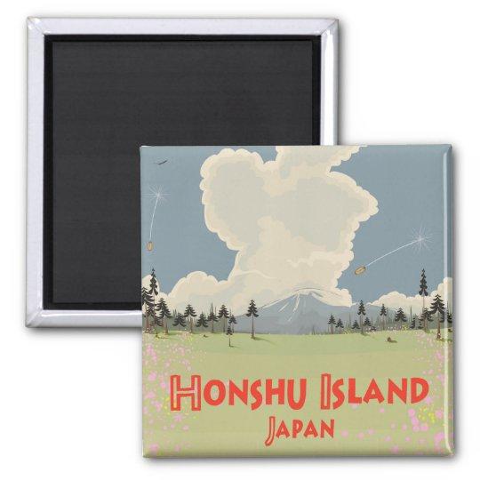 Honshu Island,Japan travel poster Magnet