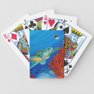 Honu and Black Coral Bicycle Playing Cards