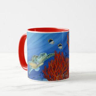 Honu and Black Coral Mug