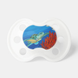 Honu and Black Coral Pacifier