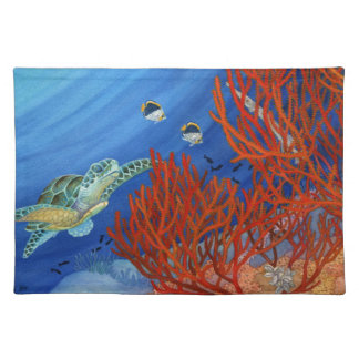 Honu and Black Coral Placemat