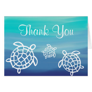 Honu Beach Ocean Turtles Thank You Card